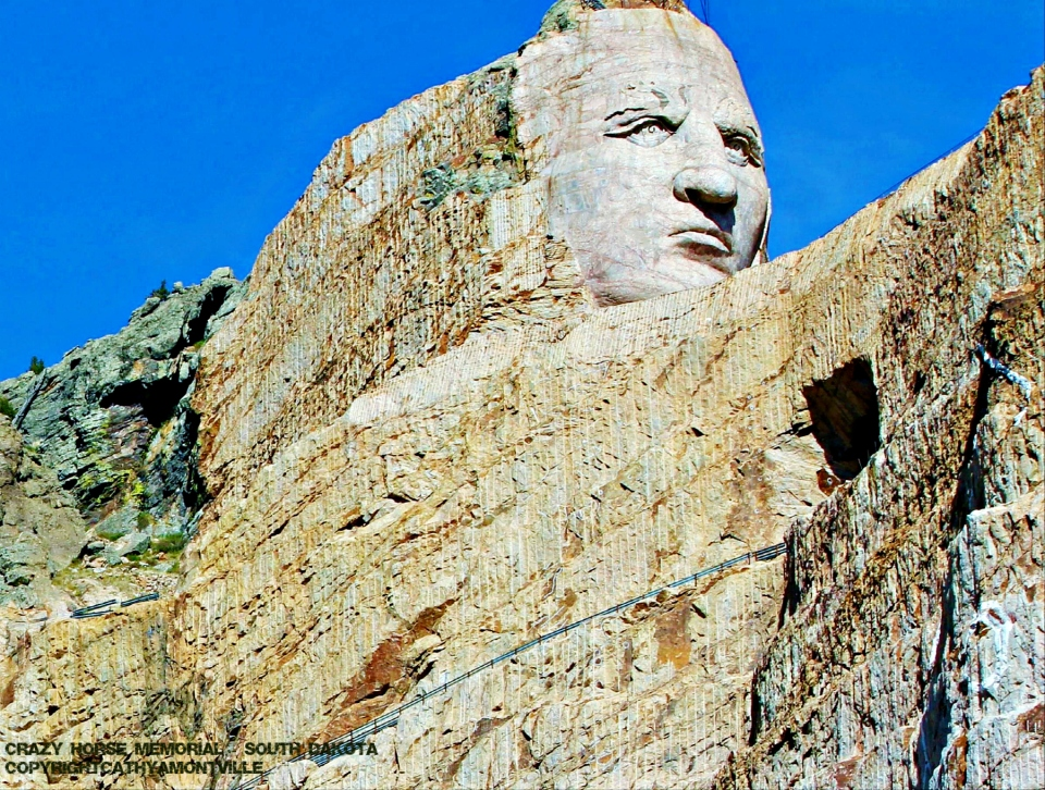 Crazy Horse Memorial - South Dakota  Copyright Cathy A Montville
